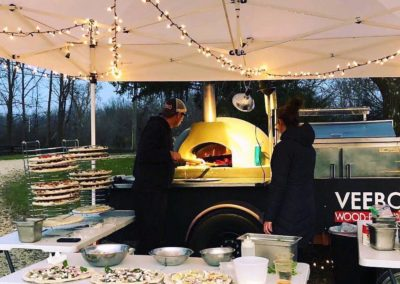 Catering Events with the Woodfire Pizza Cart
