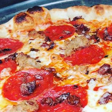 Triple Meat Pizza in Rockford Il